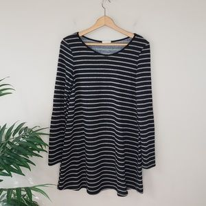 12PM by Mon Ami | Striped Elbow Patch Tunic